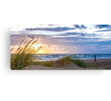Sunset at the Dutch coast Canvas Print