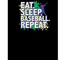 Threadrock Big Boys' Eat Sleep Baseball Repeat Youth T-Shirt Photographic Print
