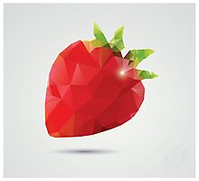 Geometric strawberry Photographic Print