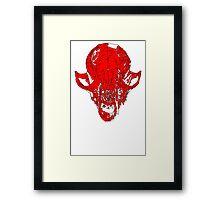 Bloody Fox Skull Framed Print