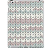 Winter woolies chunky knitting design to keep you warm in pastel pink and green iPad Case/Skin