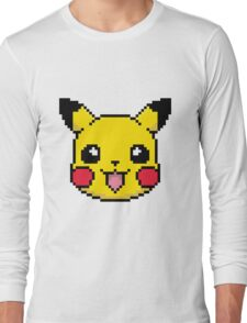 Pikachu (Pokémon) Pixel art Long Sleeve T-Shirt