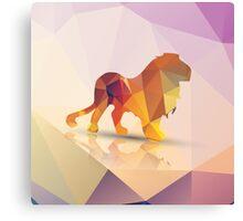 Polygon Lion Canvas Print
