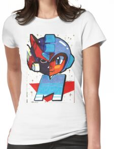 Megamans Darkside Womens Fitted T-Shirt