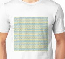 Chunky knitting design in yellows and greens to warm you on winter nights Unisex T-Shirt
