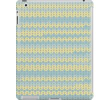 Chunky knitting design in yellows and greens to warm you on winter nights iPad Case/Skin