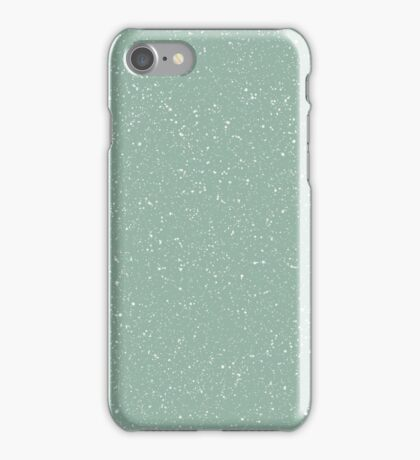 Snowstorm blizzard on a pastel green background iPhone Case/Skin