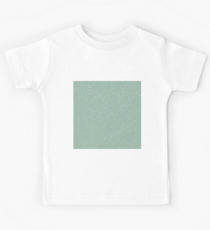 Snowstorm blizzard on a pastel green background Kids Tee