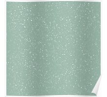 Snowstorm blizzard on a pastel green background Poster