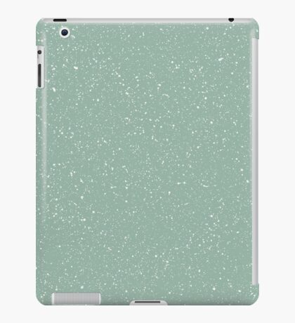 Snowstorm blizzard on a pastel green background iPad Case/Skin