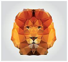 Geometric polygon lion Photographic Print
