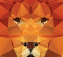 Geometric polygon lion Sticker