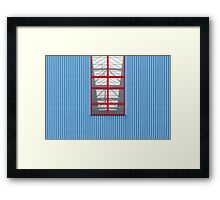 Blue Red Framed Print
