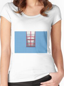Blue Red Women's Fitted Scoop T-Shirt