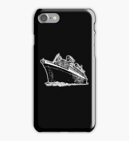 Cruise Ship, Ocean Liner, Ship, Trans Atlantic iPhone Case/Skin