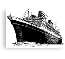 Cruise Ship, Ocean Liner, Ship, Trans Atlantic Canvas Print