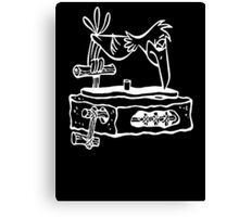 Flintstones Vinyl Record Dj Turntable Canvas Print