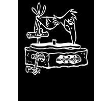 Flintstones Vinyl Record Dj Turntable Photographic Print