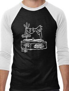 Flintstones Vinyl Record Dj Turntable Men's Baseball ¾ T-Shirt