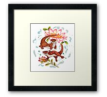 Lily Otter Friends Framed Print