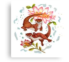Lily Otter Friends Canvas Print