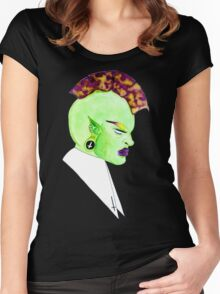 The Mohawk Elf Princess Women's Fitted Scoop T-Shirt