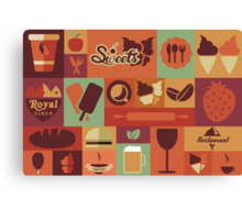 Food Icons Canvas Print