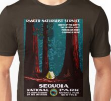 Vintage WPA Camping in Sequoia National Park Unisex T-Shirt