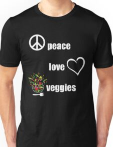 Peace Love Veggies Unisex T-Shirt