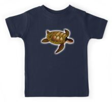 TURTLE, Green, sea turtle Kids Tee