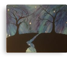 Galaxy Silhouette Painting Canvas Print