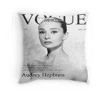Audrey Hepburn for VOGUE Throw Pillow