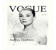 Audrey Hepburn for VOGUE Art Print
