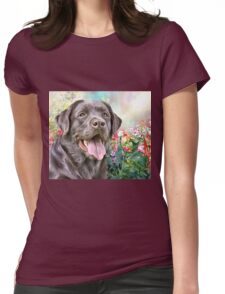Labrador Painting  Womens Fitted T-Shirt
