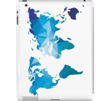 World map in geometric triangle pattern design iPad Case/Skin