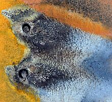 Still Life - Two Fish on a Plate by Marguerite Foxon