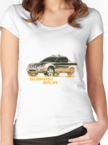 Subaru Baja Pickup Ute 2  Women's Fitted Scoop T-Shirt