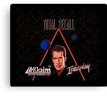 TOTAL RECALL - NES CLASSIC GAME Canvas Print