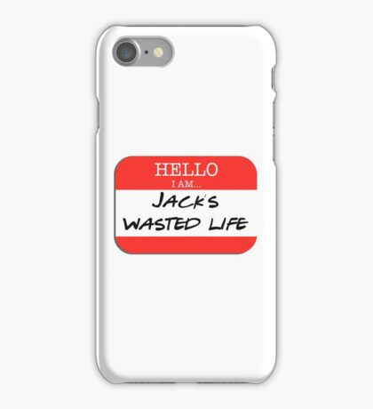 Fight Club - I am Jack's wasted life iPhone Case/Skin