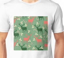 Deer and candy canes fun Christmas design  Unisex T-Shirt