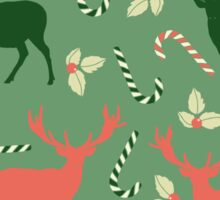 Deer and candy canes fun Christmas design  Sticker