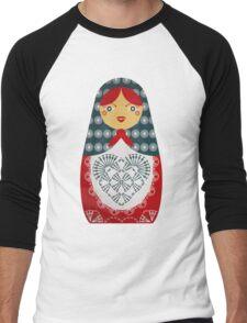 Crochet Doll Men's Baseball ¾ T-Shirt