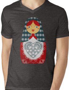 Crochet Doll Mens V-Neck T-Shirt