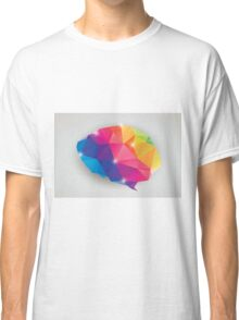 Abstract geometric human brain, triangles, creativity Classic T-Shirt