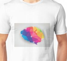 Abstract geometric human brain, triangles, creativity Unisex T-Shirt