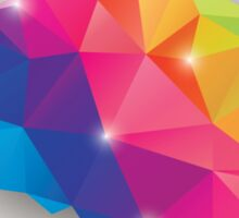 Abstract geometric human brain, triangles, creativity Sticker