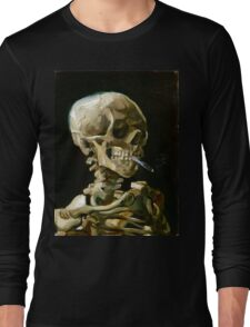 Vincent van Gogh Head of a Skeleton with a Burning Cigarette Long Sleeve T-Shirt