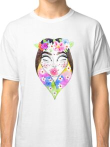 Flower Crown Alien Princess Classic T-Shirt