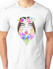 Flower Crown Alien Princess Unisex T-Shirt