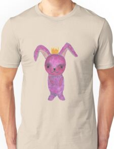 pink bunny princess with crown Unisex T-Shirt